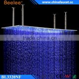 Beelee 20'' Large Colorful LED Light Shower Waterfall Rain Mist Shower Head                                                                         Quality Choice