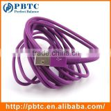 Wholesale 1 Meter Purple Data Sync Charger Micro USB Coaxial Cable