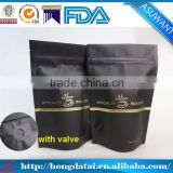 wholesale mylar matt black zip lock coffee bags with one way valve                                                                                                         Supplier's Choice