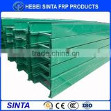 Fiberglass Outdoor Cable Ladder Tray With Cover/ High strength fiberglass cable tray