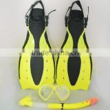 Prices snorkel mask set snorkel set with adjustable rubber fins for adult swimming and diving