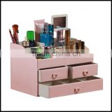 Leather cosmetic bo with mirror, high quality, cosmetic bo, cosmetic bo, new product