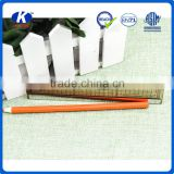 Promotional 15cm grey plastic scale transparent straight school ruler with steel mirror handle