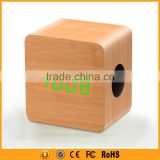 6W Wood Speaker Wireless Bluetooth with Digital Thermometer                                                                         Quality Choice