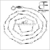 Custom 925 Sterling Silver Twisted neck Link chain Necklace Width 1.2mm, Matching Chain for Pendant