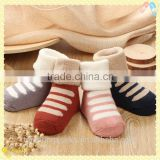 Wholesale high quality 100% cotton novelty baby shoe socks winter socks