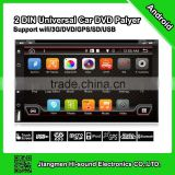 6.2'' hot selling and universal android 2 din car radio with gps