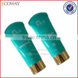 Cosmetic luxury blue tube gold plating screw cap