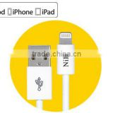 2014 Best Quality TPE 2.4A 1M Long USB Power Sync Cable For Apple Lightning with MFi License Approved