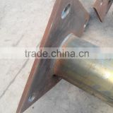 Q235B steel light column light pole base plate welding details