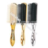 Professional curved vent brush salon professional brush with electroplating handle                                                                         Quality Choice