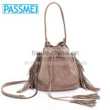 On Sale Leather Bucket bag, Mini Drawstring bag, Leather fringe bag                                                                         Quality Choice