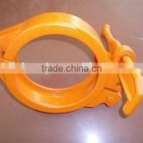 ST52 DN125 boom pump pipeline quick release/sany pipe (clamps for concrete pump pipeline)