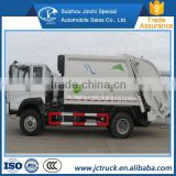 Diesel Engine Type and Turbocharger Type 10-12 CBM Howo ZZ 2axles compression garbage truck sale