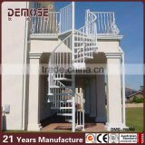 Competitive prices wrought iron prefabricated outdoor spiral stairs