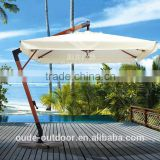 hot sale luxury wooden umbrella indonesia wood garden parasol