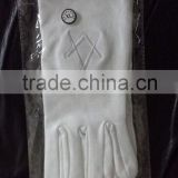 Masonic Regalia Me chine made Embroidery Gloves/ Masonic gloves