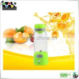Factory Green Healthy 380ML portable smart juice cup with USB, vegetable smart juicer cup with top quality