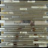Strip luxurious stainless steel like mirror tile mosaic style for ceilings