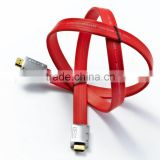 Practical Flat Noodle HDMI Male to HDMI Male Flat Noodle Extension Cable Support 3D Ready Video 1.5M