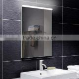 New style bathroom mirror with led light on top,led light mirror with touch sensor switch