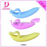 2016 Silicone Banana Butt Plug with Finger Loop, Full Silicone Anal Sex Toy, Anal Plug Adult Sex Products