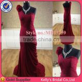 elegant dark red evening summer dresses 2015 Adults Age Group and Evening / Formal Dress Type Gabbana real sample wedding dress