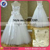 2014 White dress bowknot spanish lace wedding dresses