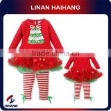 china hot sale high quality girls knit christmas suit gift baby girl clothes wholesale manufacturer