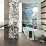 LJ JY-JH-OC02 Undersea World Mosaic Painting Bathroom Wall Tiles Price Dolphin Mosaic Tile Picture Decorative Glass Mural