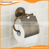 Rural Brass Tissue Box,Toilet Paper Holder with Waterproof Cover , Antique Fashion Bathroom Accessories