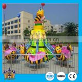 Outdoor amusement park toys for kids amusement rides used rotating bee