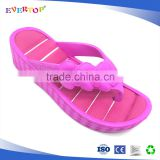 Anti-slip injection flip flops with eva raw material cheap wholesale slipper shoes for women