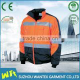 alibaba wholesale 100% polyester with pu coating working jacket winter man safety reflective life jacket for men