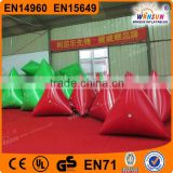 triangular shape marker floating for advertise, inflatable park lake game swim marker buoys