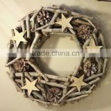 2015 hot sale wicker wreath factory supply high quality