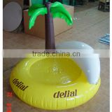 New product fashion popular inflatable pool lounge float island with coconut palm tree