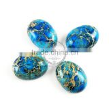 18x25mm oval blue imperial jasper cabochon beads,gemstone pendant cabochon stone beads set for earrings,rings,necklace 4120023