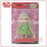 3.5 inch plastic mini fashion fairy baby doll toy / child love dolls