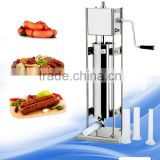 Home use vegetarian hand operated sausage stuffer