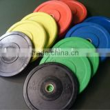 2013 Hot Sales ! Solid rubber bumper plate/dumbbell weight plate with stainless steel ring