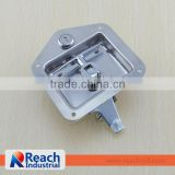 Truck Trailer Flush Mount Polished Stainless Steel Key-Locking Recessed T Handle Metal Tool Box Lock