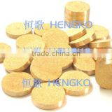 Microporous brass powder sintered filter disk