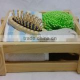HOT natural wooden bath set,shower set