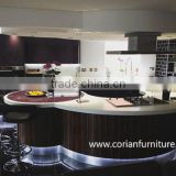 Modern design solid surface home bar counter , artificial stone bar counter