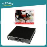 36pcs Coffee Pod Stand Black Metal Storage Drawer Holder for Coffee Capsules