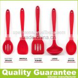 BPA free 5-piece durable easy cleaning kitchenware cooking tools silicone baking utensil set