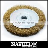 SWB-110 Big size Steel wire brush circular wire wheel brush bevel brush with arbor hole car vehicle cleaning tool