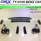 auto part racing universal exhaust rear deffuser kit for BEN---Z C63
