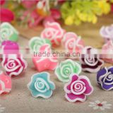 handmade flower ceramic beads for stud earrings 2016 cheap polymer clay flower charms for jewelry accessories